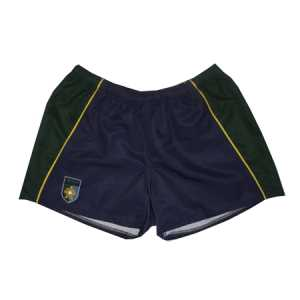 Aquinas College Rugby Shorts Navy/Forest/Gold